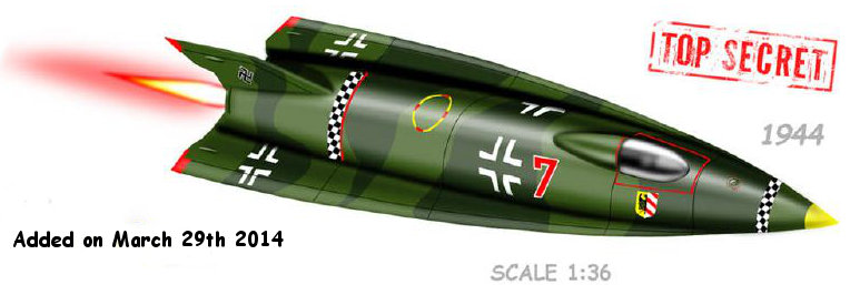 Illustration for Nazi A9 Rocket paper model