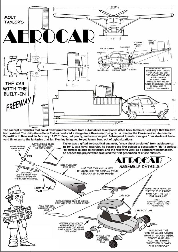 Aerocar Paper Model Instructions
