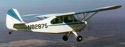 Aeronca Champion in flight