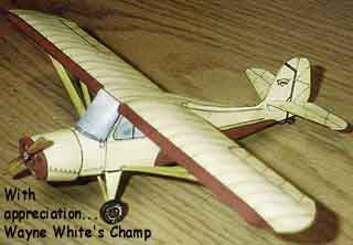 Aeronca 7AC Champion Card Model