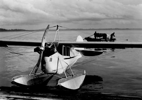 Aeronca C-3 on floats