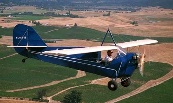 Aeronca C-3 In Flight