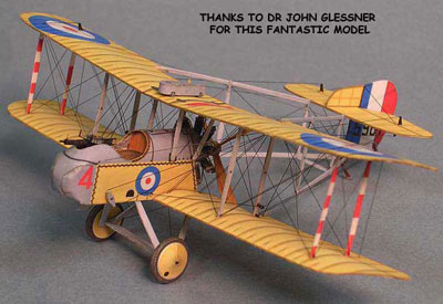 paper model of Airco DH-2