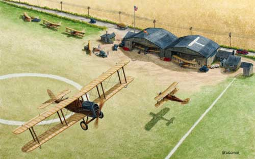 Airco DH-4 flyby