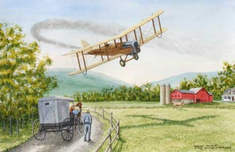 Airco DH-4 crash
