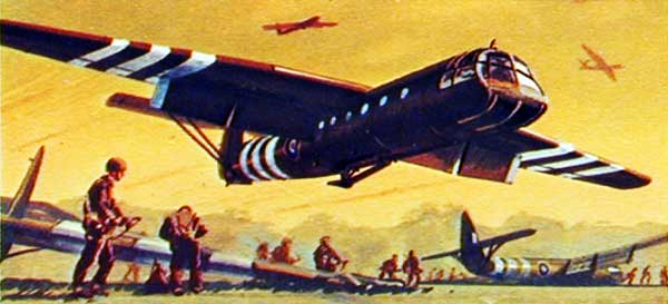 artwork for Horsa Invasion Glider paper model