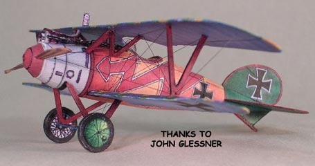 Albatros DVa German WWI Scout paper model