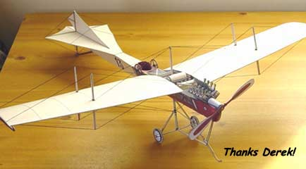 Antoinette Early Flying Machine model informaiton