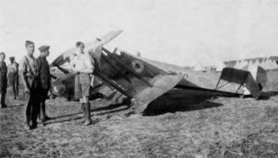 Avro 504k Crash