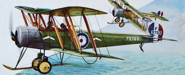 illustration for the Avro 504 paper model
