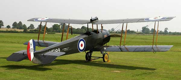Avro 504 parked