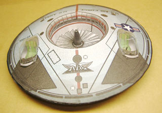 Avro Flying Saucer paper model