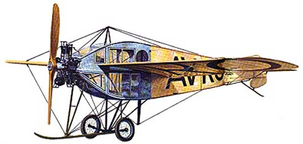 illustration for the Avro F paper model
