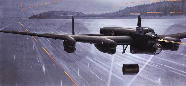 illustration for the Avro Lancaster paper model