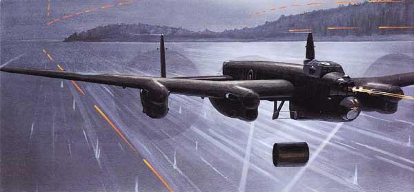 illustration for the Avro Lancaster paper model