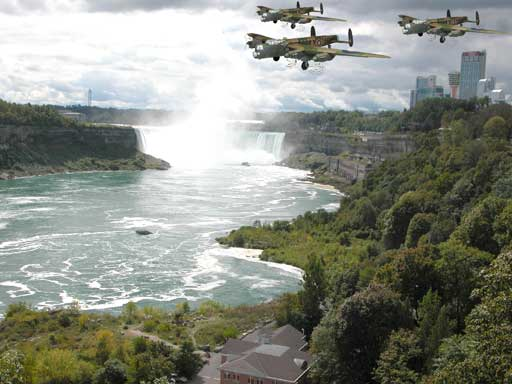Lancasters over Niagra Falls