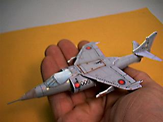paper model of the British Aerospace Harrier