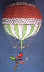 assembled paper model of Jeffries Hydrogen Balloon