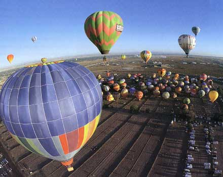 Hot air balloons at Albuerqerque
