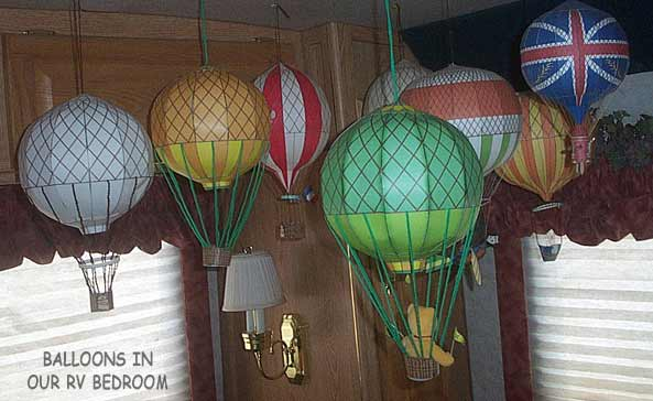Hot air balloons in our RV