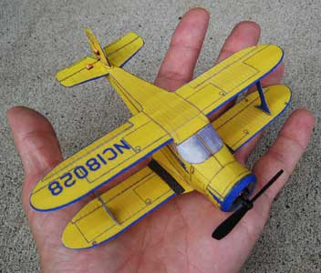 Beech D-17 Staggerwing FG/RC model