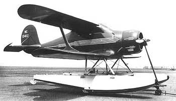 Beech Staggerwing-floats