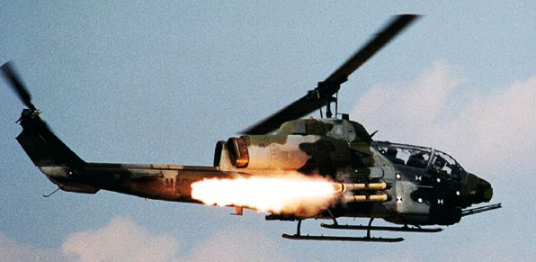 Bell Ah-1G Cobra Missile Launch