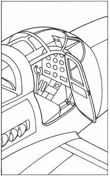 Bell P-39 Airacobra cocpit and door arrangement