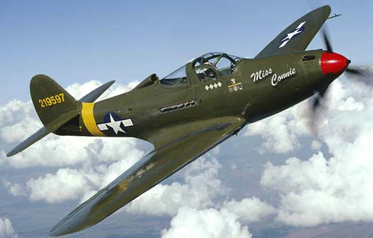 P-39 Airacobra screaming by