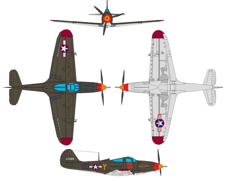 Bell P-39 Airacobra-Four Views