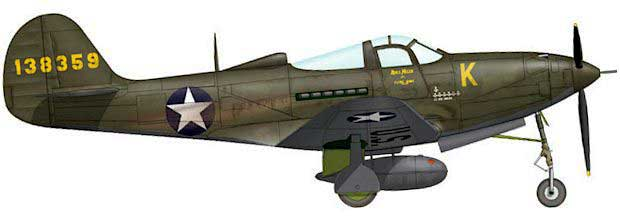 Bell P-39 Airacobra-US-Army markings