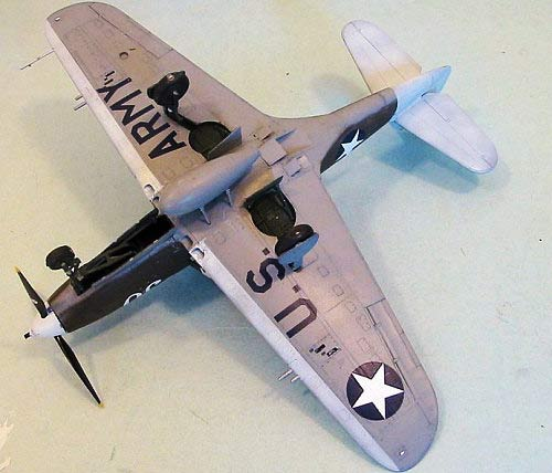 Bell P-39 Airacobra-Bottom view of Plastic  model