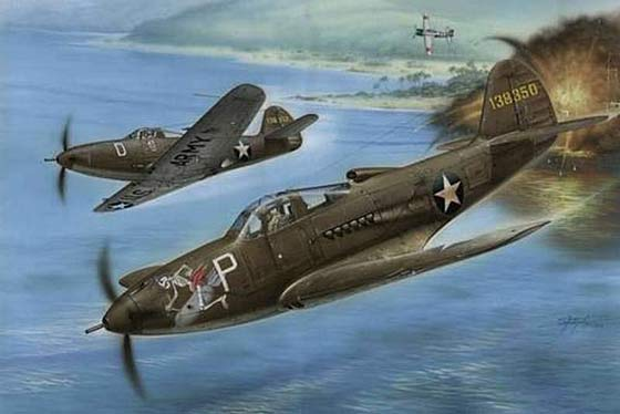 Bell P-39 Airacobra- in battle
