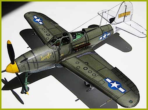 illustration for Bell P-39 Airacobra paper model