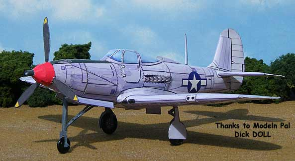 P-39 Airacobra Cardmodel from Dick Doll