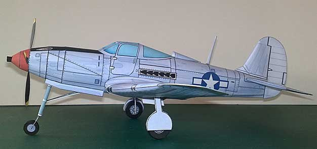 P-39 Airacobra Card model by Niki Shut