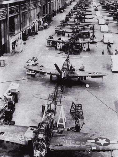 P-39 Airacoblras being repaired at Sacramento