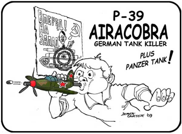 Dereck Carter Airacobra Cartoon