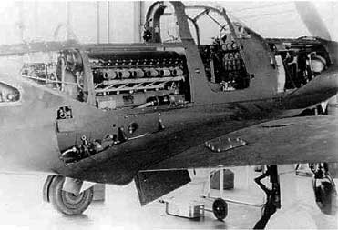 P-39 Airacobra engine view