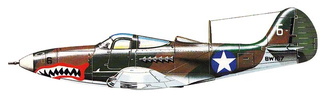 P-39 Bell Airacobra - New Guinea version