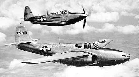 P-59 Bell and  P-39