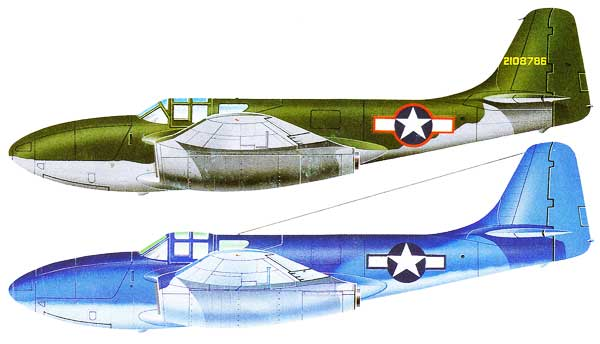 Bell P-59 Airacomet Color Profiles
