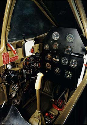 P-59 Bell Airacomet  instrument panel