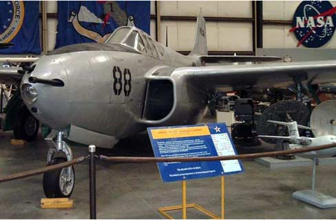 P-59 Bell Airacomet in Museum