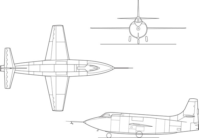 3 View Bell X-1