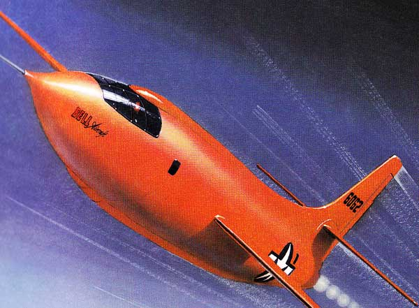 Bell X-1 Manned Rocket paper model