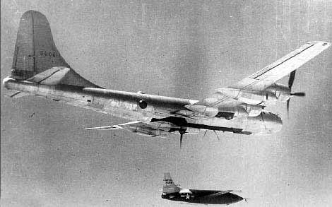 Bell X-1 leaving mother ship