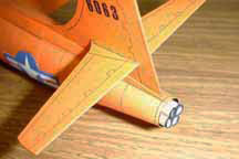 View of the rocket tail pipe on the Bell X-1 model