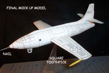Final mock up of the Bell X-1 cardmodel