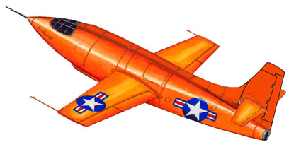 Bell X-1 Rocket paper model